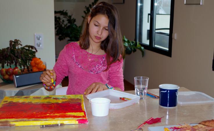 Eva painting_first art exhibit, © Eva M Kant