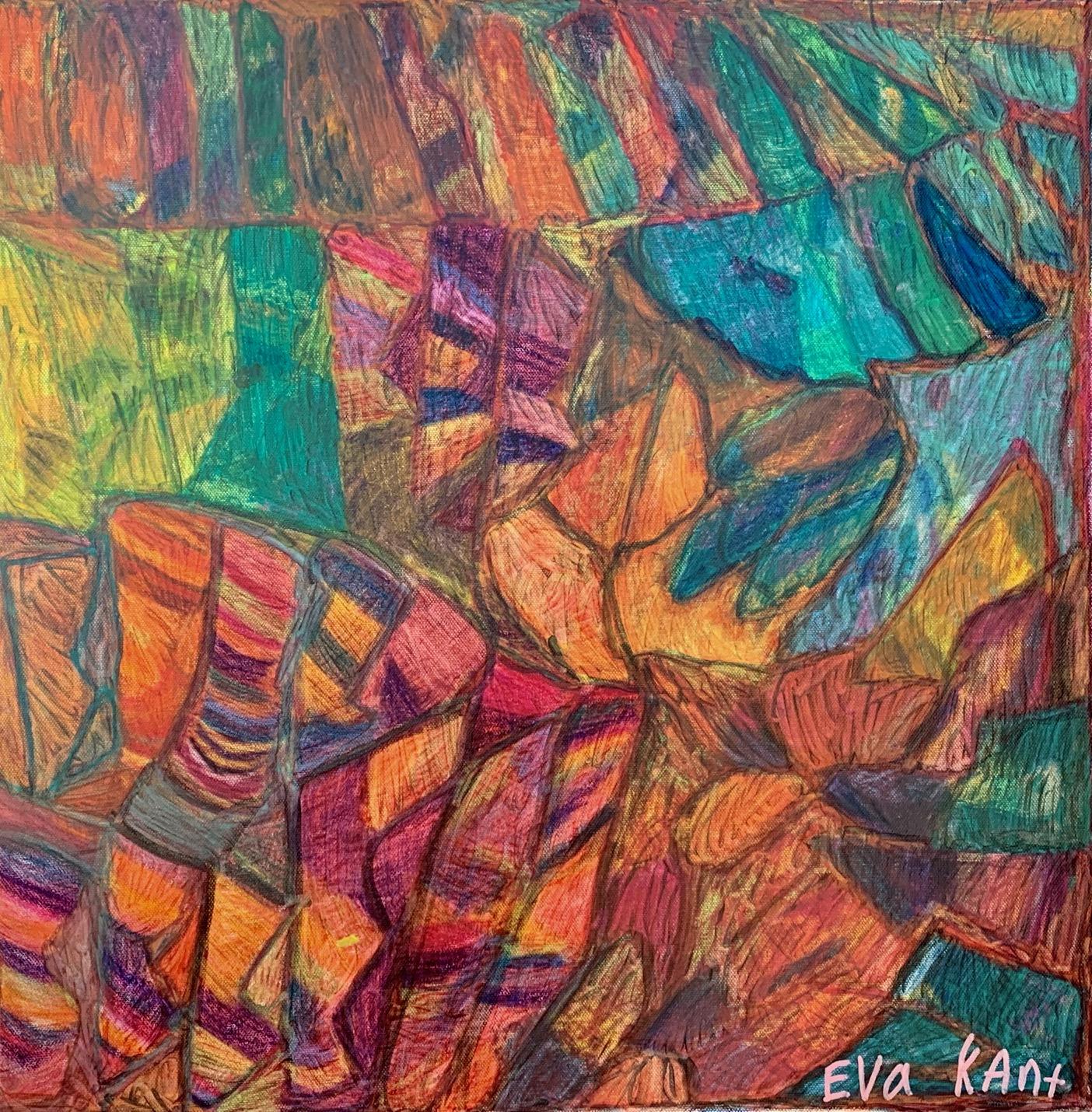 Géometrie-colorée © Eva M Kant
